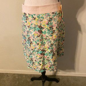 Beth Bowley Pink Floral A-Line Skirt NWT Size 2